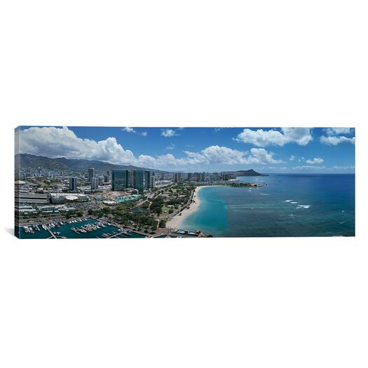 iCanvas Panoramic Buildings in a City, Honolulu, Oahu, Hawaii 2007 Photographic Print on Canvas