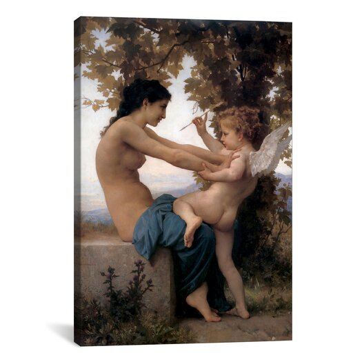 iCanvas 'A Young Girl Defending Herself Against Eros' by William-Adolphe Bouguereau Painting Print on Canvas
