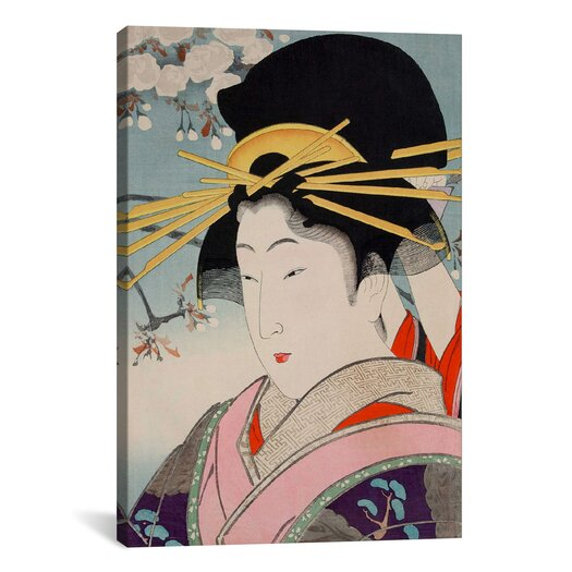 iCanvas A Courtesan Japanese Woodblock Painting Print on Canvas
