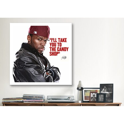 iCanvas 50 Cent Quote Canvas Wall Art
