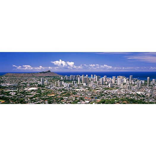 Icanvas Panoramic Honolulu Oahu Hawaii 2010 Photographic