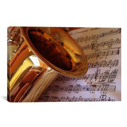 iCanvas Photography Saxophone Photographic Print on Canvas