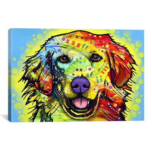 """iCanvas """"Golden Retriever"""" by Dean Russo Graphic Art on Wrapped Canvas"""