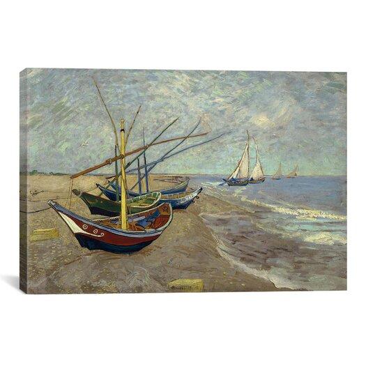 "iCanvas ""Fishing Boats on the Beach at Les Saintes Maries de la Mer"" by Vincent van Gogh Painting Print on Canvas"