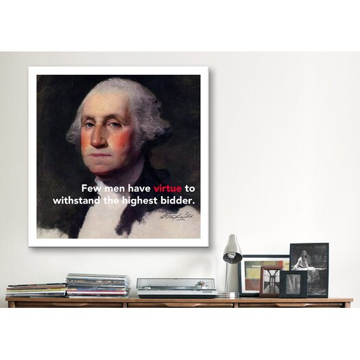 iCanvas George Washington Quote Canvas Wall Art