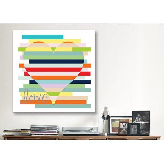 """iCanvas """"Heart Rainbow"""" Canvas Wall Art by Erin Clark"""