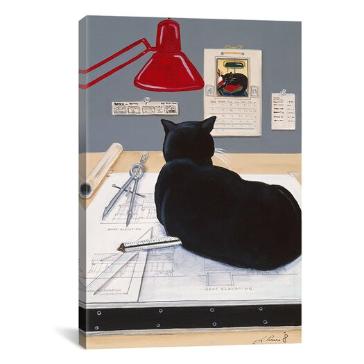 iCanvas Harold the Architectural Paperweight Painting Print on Canvas