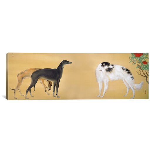 iCanvas Japanese Art 'Dogs from Europe' by Hashimoto Kansetsu Graphic Art on Canvas
