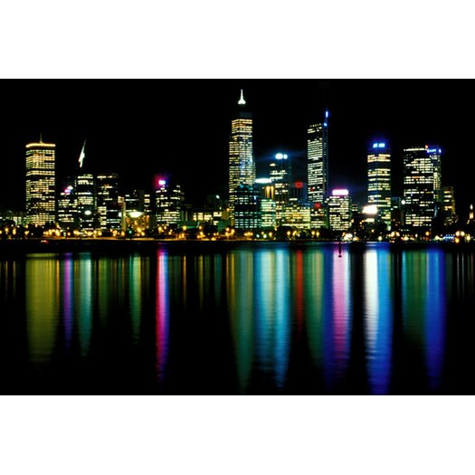 iCanvas Downtown City Lights Photographic Print on Canvas