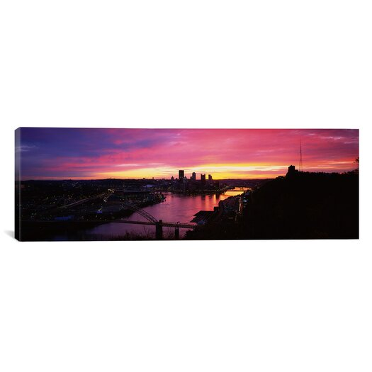 iCanvas Panoramic West End Bridge, Pittsburgh, Pennsylvania Photographic Print on Canvas