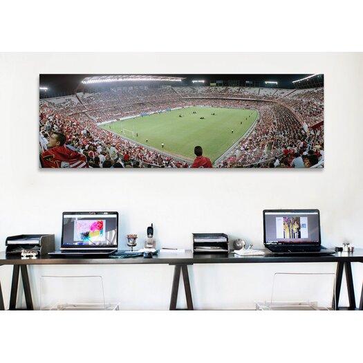 iCanvas Panoramic Crowd in a Stadium, Sevilla FC, Estadio Ramon Sanchez Pizjuan, Seville, Spain Photographic Print on Canvas
