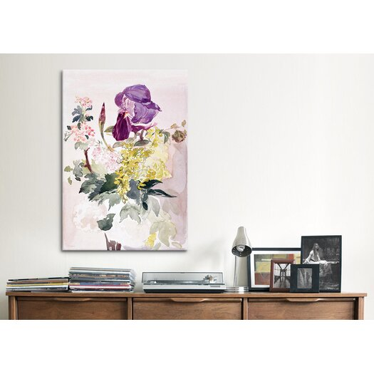 iCanvas 'Flower Piece with Iris, Laburnum and Geranium' by Edouard Manet Painting Print on Canvas