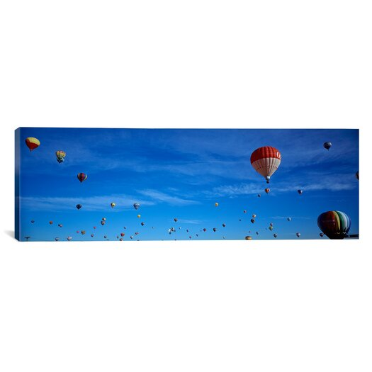 iCanvas Panoramic Low Angle View of Hot Air Balloons, Albuquerque, New Mexico Photographic Print on Canvas