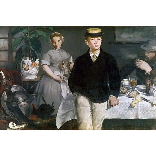iCanvas 'Luncheon in the Studio' by Edouard Manet Painting Print on Canvas