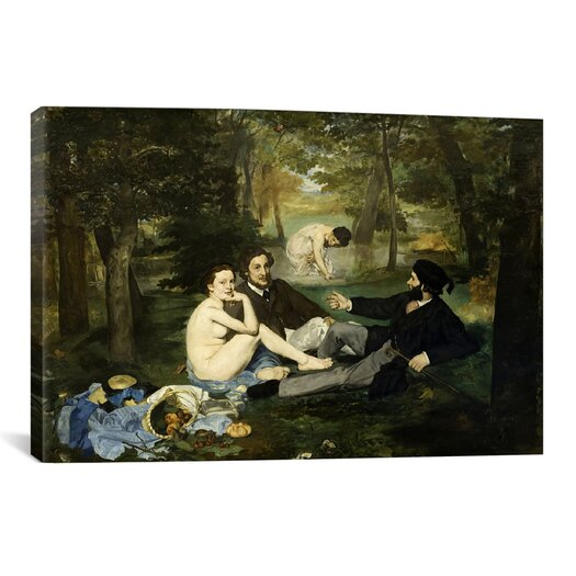 iCanvas 'Luncheon on the Grass' by Edouard Manet Painting Print on Canvas