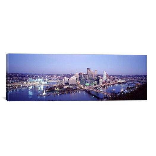 iCanvas Panoramic Pittsburgh Pennsylvania Photographic Print on Canvas