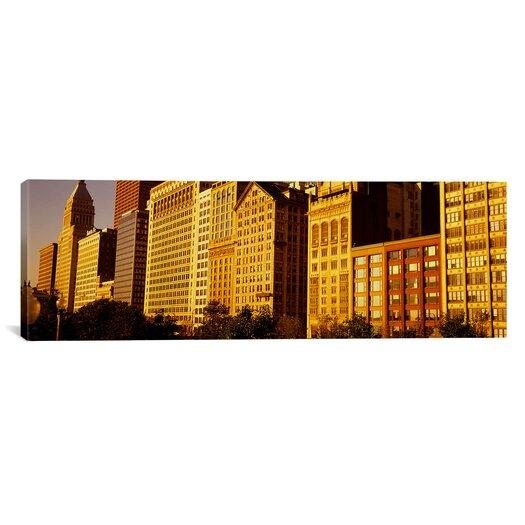 iCanvas Panoramic Michigan Avenue Architecture, Chicago, Illinois Photographic Print on Canvas