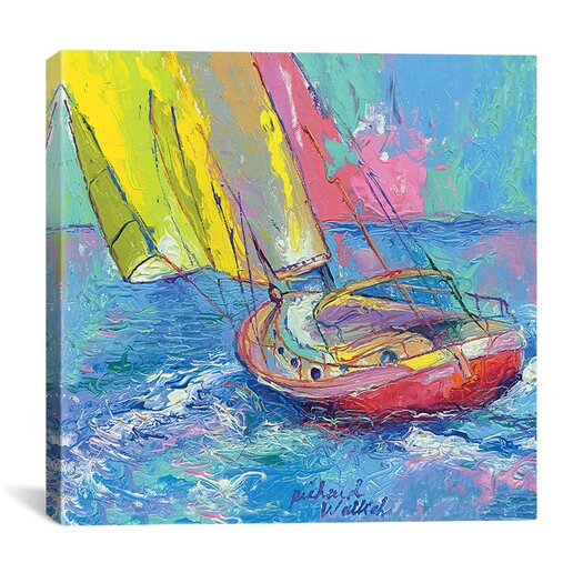 iCanvas Sailboat by Richard Wallich Graphic Art on Canvas