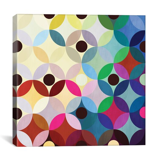 iCanvas Mid Century Modern Circular Motion Graphic Art on Canvas