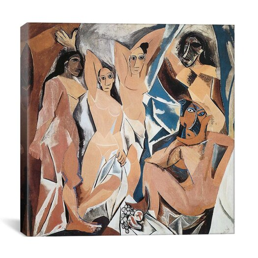 """iCanvas """"Les Demoiselles d'Avignon"""" Canvas Wall Art by Pablo Picasso"""