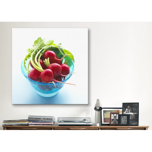 iCanvas Radish in a Bowl Photographic Canvas Wall Art