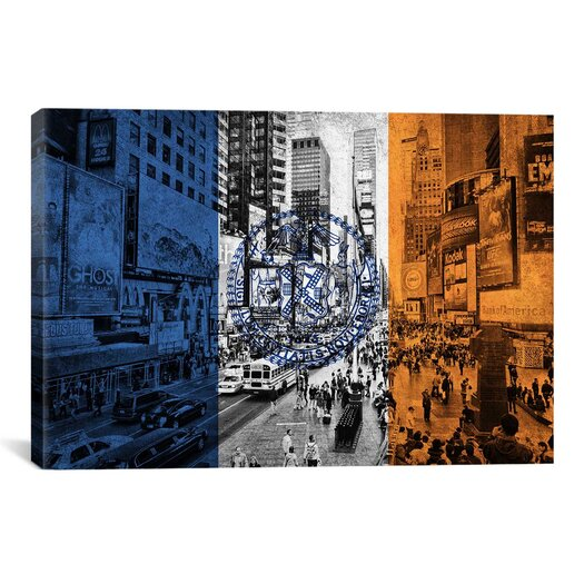iCanvas Flags New York Times Square Graphic Art on Canvas