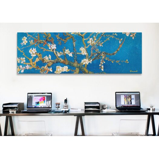 "iCanvas ""Almond Blossom"" by Vincent Van Gogh Painting Print on Canvas in Blue"