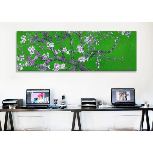 iCanvas Almond Blossom by Vincent Van Gogh Painting Print on Canvas in Green