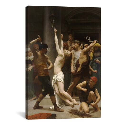 iCanvas 'The Flagellation of Our Lord Jesus Christ' by William-Adolphe Bouguereau Painting Print on Canvas