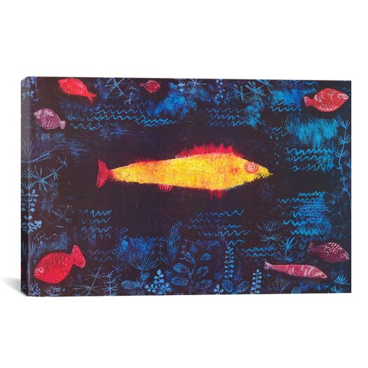 iCanvas 'The Golden Fish' by Paul Klee Painting Print on Canvas