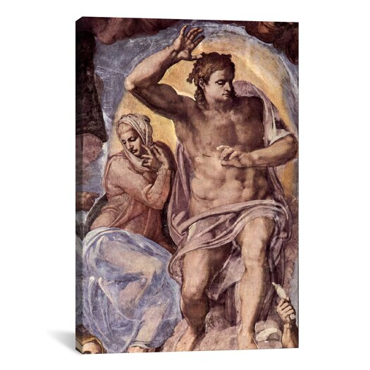 iCanvas 'The Creation of the Sun and the Moon 1508-1512' by Michelangelo Painting Print on Canvas