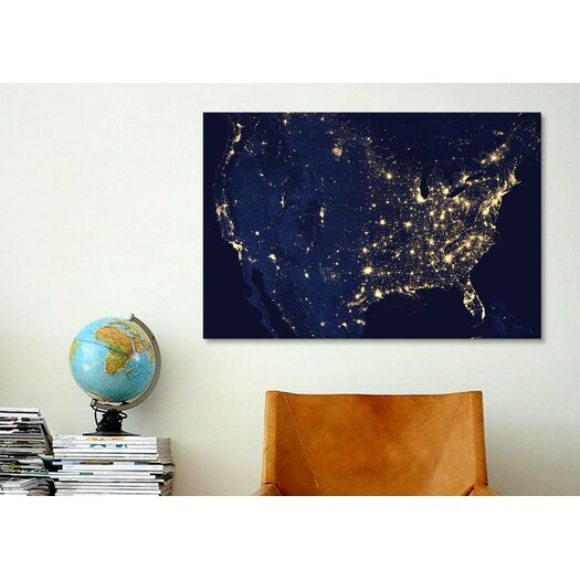 iCanvas The Earth at Night Canvas Wall Art
