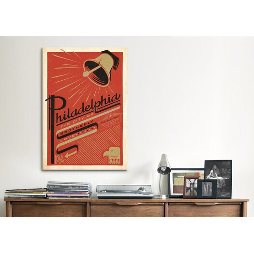 iCanvas 'The City of Brotherly Love - Philadelphia, Pennsylvania' by Anderson Design Group Vintage Advertisement on Canvas