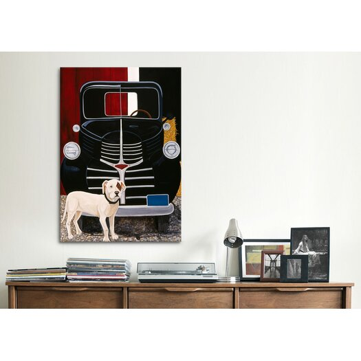 """iCanvas """"Virgil in Front of the Ranch Truck"""" Canvas Wall Art by Jan Panico"""