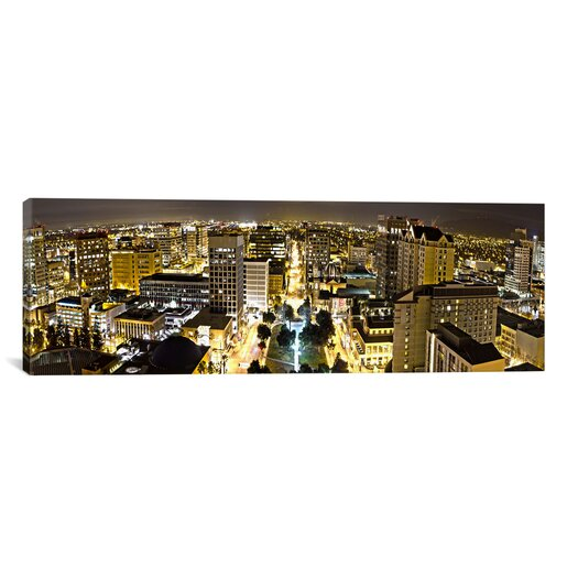 iCanvas Panoramic 'San Jose Skyline Cityscape (Night View)' Photographic Print on Canvas