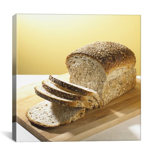 iCanvas Food and Cuisine Sliced Bread Photographic Print on Canvas