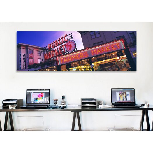 iCanvas Panoramic The Public Market Seattle, Washington Photographic Print on Canvas