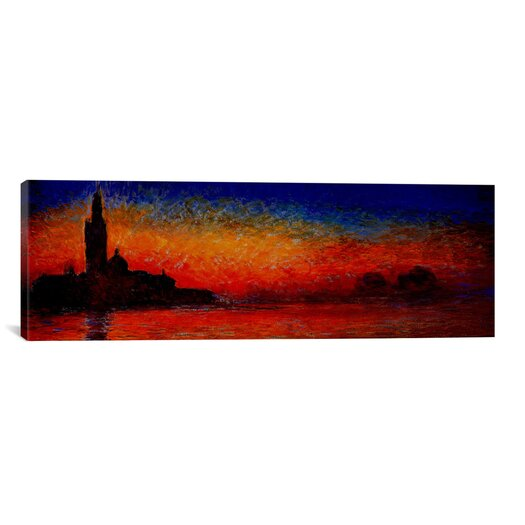 iCanvas 'Sunset in Venice' (Panoramic) by Claude Monet Painting Print on Canvas