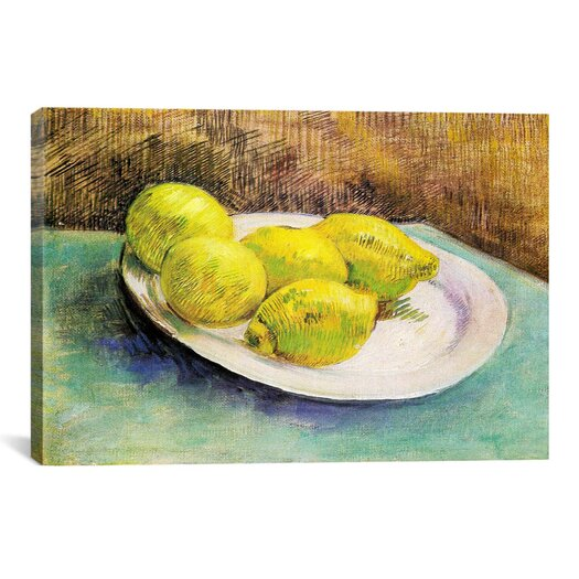 iCanvas 'Still Life with Lemons on a Plate' by Vincent Van Gogh Painting Print on Wrapped Canvas