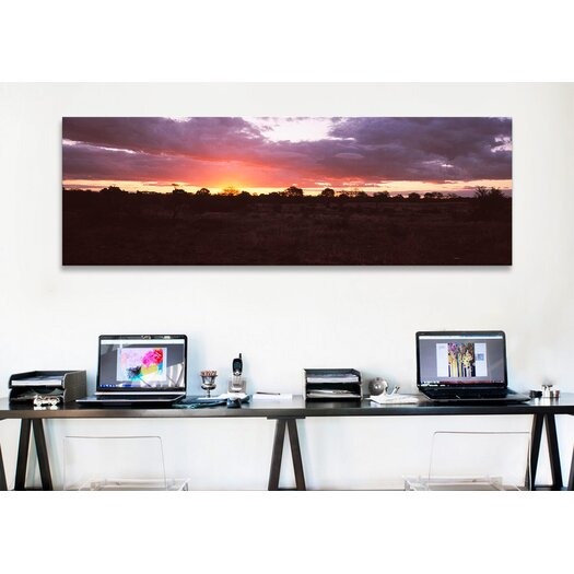 iCanvas Panoramic Sunset over the Savannah Plains, Kruger National Park, South Africa Photographic Print on Canvas