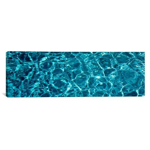 iCanvas Panoramic Swimming Pool Ripples Sacramento California Photographic Print on Canvas