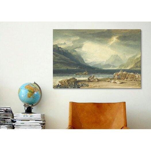 iCanvas 'The Lake of Thun, Switzerland' by Joseph William Turner Painting Print on Canvas
