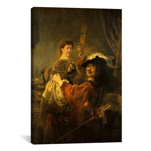 iCanvas 'Self-Portrait with Saskia in the Parable of the Prodigal Son' by Rembrandt Painting Print on Canvas