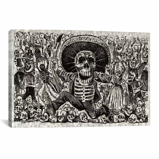 iCanvas 'Skeletons - Calavera from Oaxaca' by José Guadalupe Posada Painting Print on Canvas