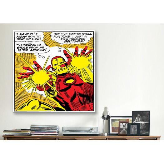 iCanvas Marvel Comics Book Iron Man Panel Art B Graphic Art on Canvas