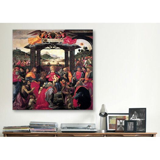 """iCanvas """"The Adoration of The Magi"""" Canvas Wall Art by Domenico Ghirlanaio"""