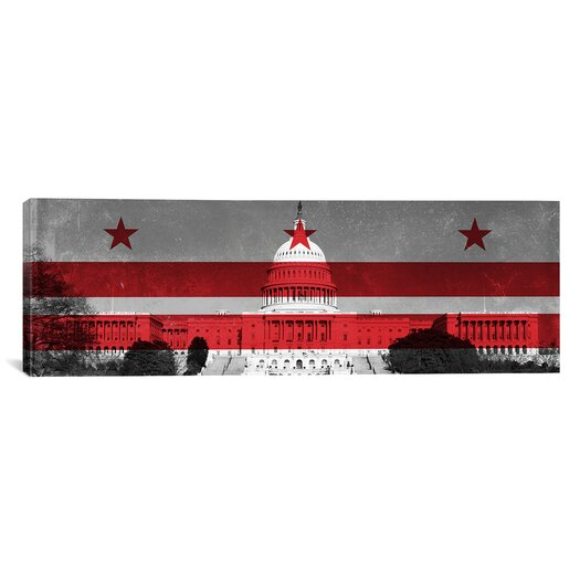 iCanvas Flags Washington, D.C Capitol Building Panoramic Graphic Art on Canvas
