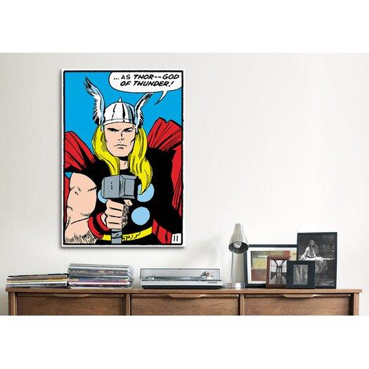 iCanvas Marvel Comics Thor Panel Art B Graphic Art on Canvas