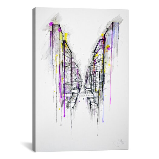 iCanvas 'This City Sleeps' by Marc Allante Painting Print on Wrapped Canvas