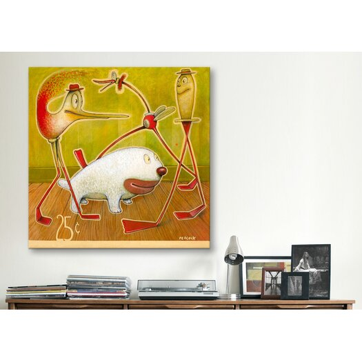 iCanvas 'Woolly White' by Daniel Peacock Graphic Art on Canvas